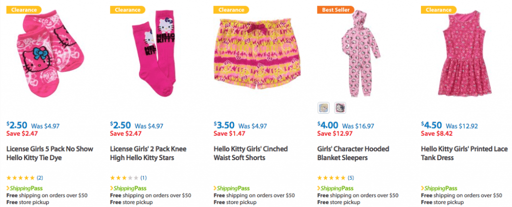 Clearance - Lots of Hello Kitty Girls Clothes