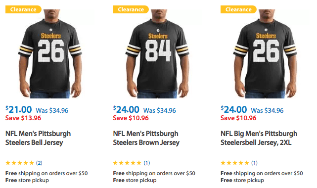 new product 2cab9 c8c1f Clearance on Pittsburgh Steelers Apparel for shirts ...