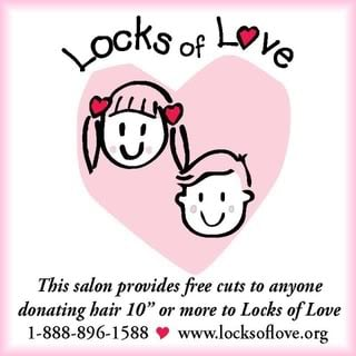 great clips free haircut with hair donations to Locks of Love