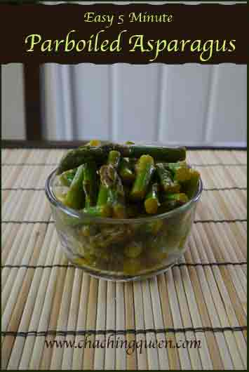 Easy 5 Minute Parboiled Asparagus Recipe