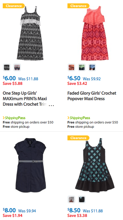 Girls Sleeveless Dresses walmart deal discount