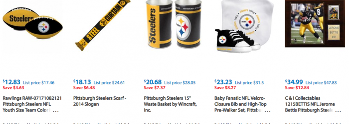Pittsburgh Steelers Clothes Discounted and on Clearance