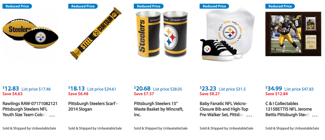 Pittsburgh Steelers Clothes and More Discounted and on Clearance