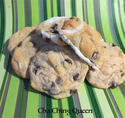 Surprise Cream Filled Chocolate Chip Cookies Icing Inside Recipe Stacked Cookies