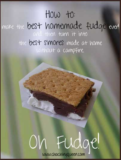 how to make the best homemade fudge and turn it into smores