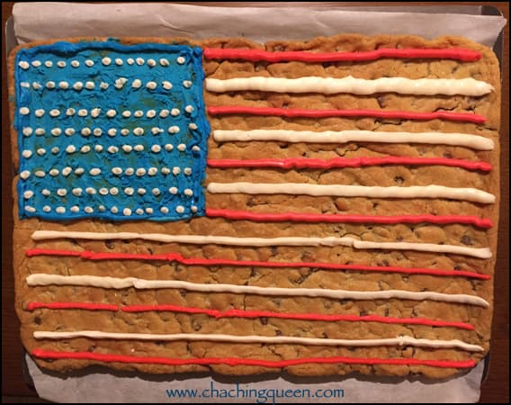 july 4th cookie cake american-flag buttercream icing recipe