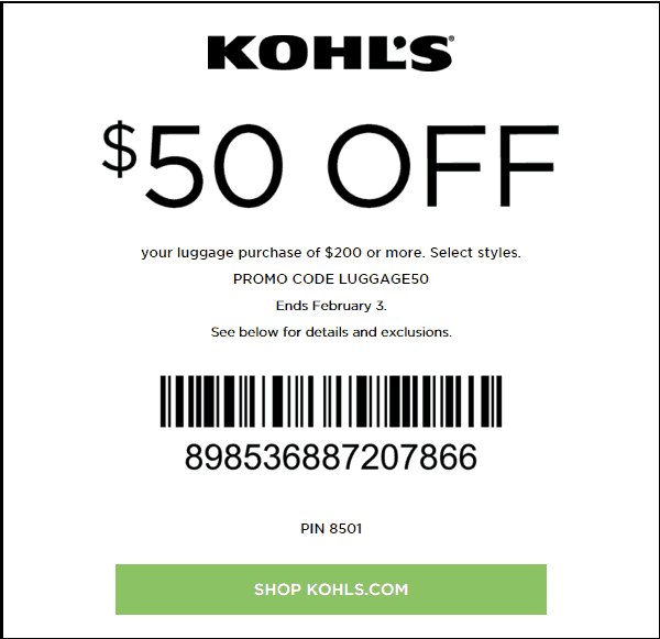 Kohls in store coupon june 2018