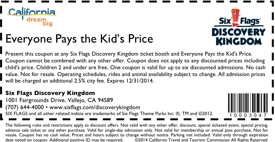 graphic regarding Six Flags Printable Coupons called Young children take a look at coupon code : Absolutely free applebees printable coupon codes