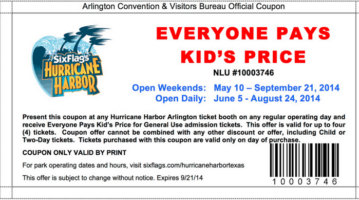 Six flags discount coupons