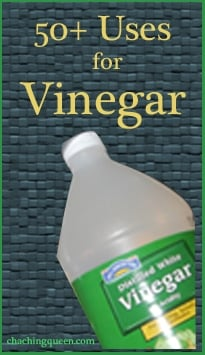 50 uses for vinegar around the house, laundry, office, car, garden, for beauty, health, and pets