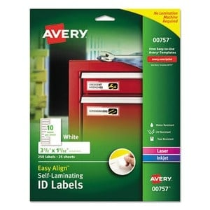 Avery Easy Align Self-Laminating ID Labels Review