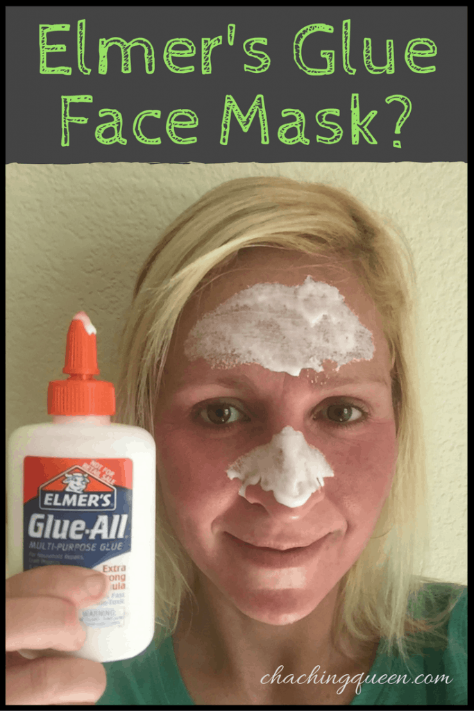 Elmers Glue Face Mask
