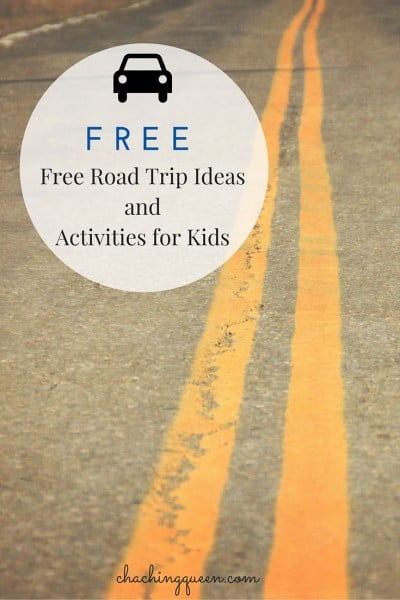 Free Road Trip Ideas and Activities for Kids FREE