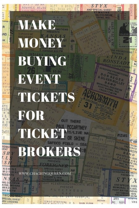 MAKE MONEY BUYING EVENT TICKETS FOR TICKET BROKERS
