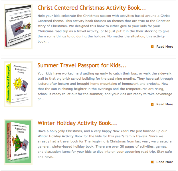 Road Trip Ideas and Activities for Kids