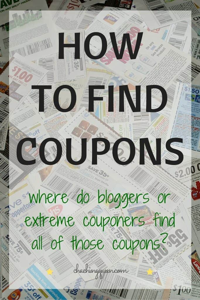 How to Find Coupons - Where do Bloggers and Extreme Couponers Find all of these Coupons?