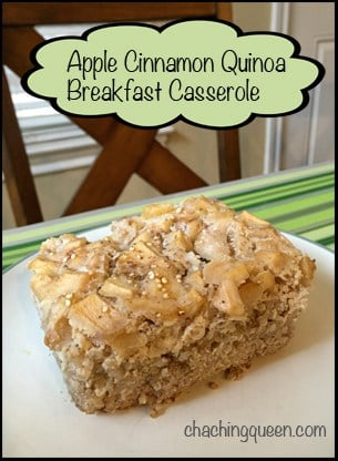 apple cinnamon quinoa breakfast casserole recipe