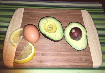 Baked Egg in Avocado Recipe Ingredients