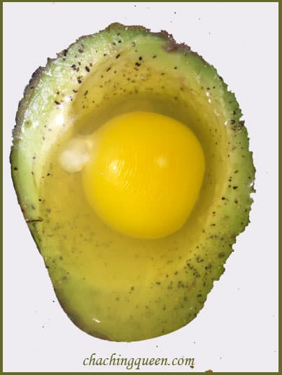 Baked Egg in Avocado Recipe Raw Egg