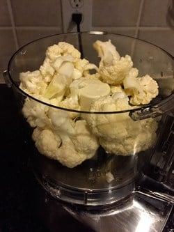 food processor cauliflower for cauliflower crust