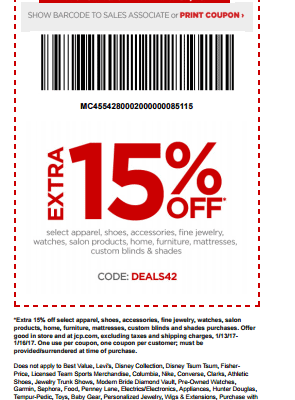 Jc Penney Coupons and Discounts 2019