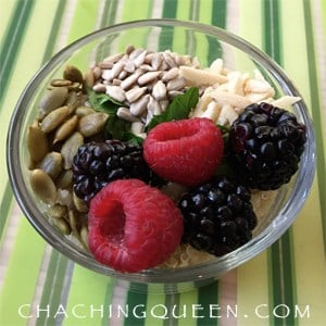 Quinoa Recipes: Quinoa Breakfast Bowl of Protein with Nuts, Seeds, Berries, and Yogurt