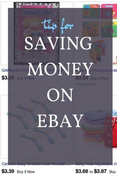 tip for saving money on ebay