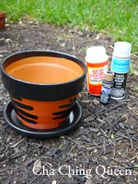 tools diy homemade gift flower pot fathers day handprints