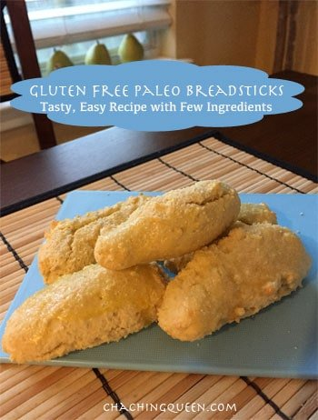 Gluten Free Paleo Breadsticks Tasty, Easy Recipe with Few Ingredients
