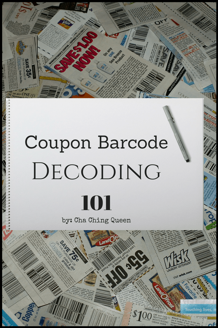 Coupon Barcode Decoding 101 - How to read a coupon barcode Cha Ching