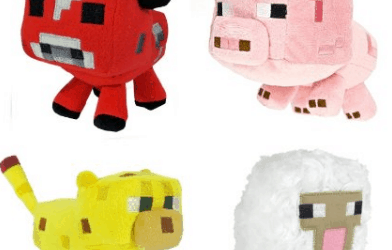 Minecraft Plush Stuffed Animals Set of 4 Amazon Deal