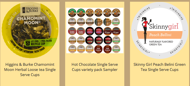loose tea single serve cups k cups