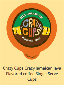 Crazy Cups Crazy Jamaican Java Flavored coffee Single Serve k cups