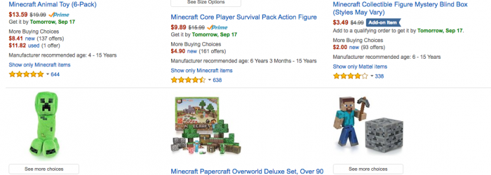 Minecraft Toys Deal save on minecraft amazon