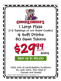 picture about Chuck E Cheese Coupon Printable called Chuck e cheese alpine discount coupons, dharma investing co coupon