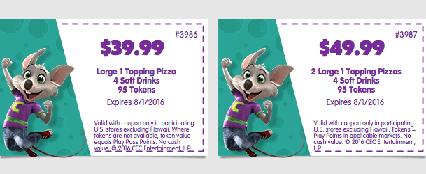 chuck e cheeses printable coupon july 2016 august