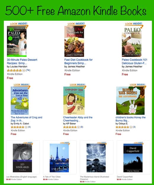 Free Kindle Books - Big List of Free Amazon Kindle Books