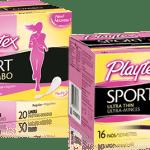 Free sample of Playtex Sport tampons