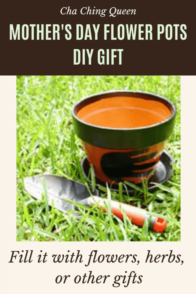Homemade Decorated Flower Pots for Father's Day Homemade Gift or diy Mother's Day giftidea