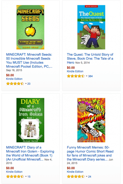 FREE Minecraft Books (Kindle)