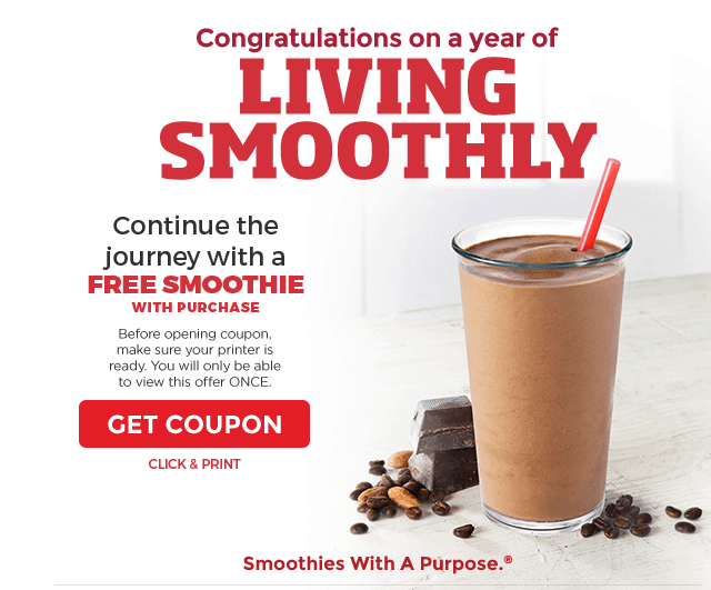 image regarding Smoothie King Printable Coupon known as Smoothie king discount coupons on line : Excellent generate trailer offers