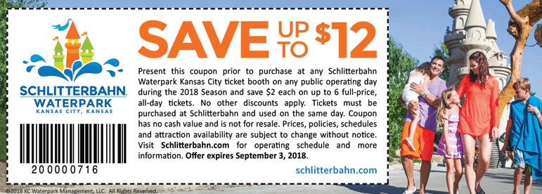 2018 Schlitterbahn Coupons Kansas City - printable coupon