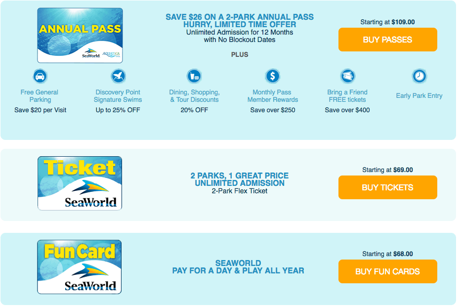 Sea world discount coupon