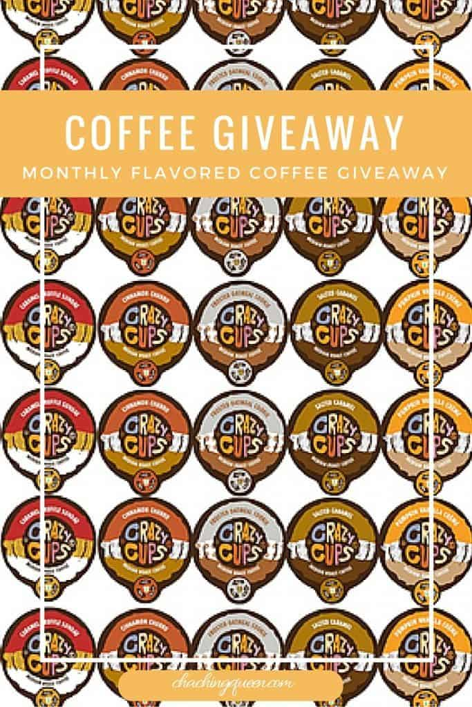 Crazy Cups Coffee Giveaway (Organic Fair Trade Flavored Coffee) - K-cups and Keurig Compatible