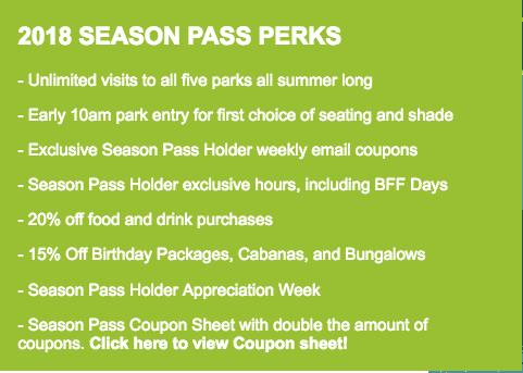 Hawaiian Falls Season Pass perks