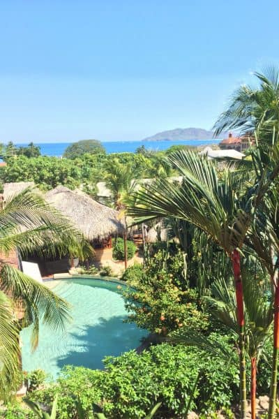 Jardin del Eden Boutique Hotel Review balcony beach view and pool