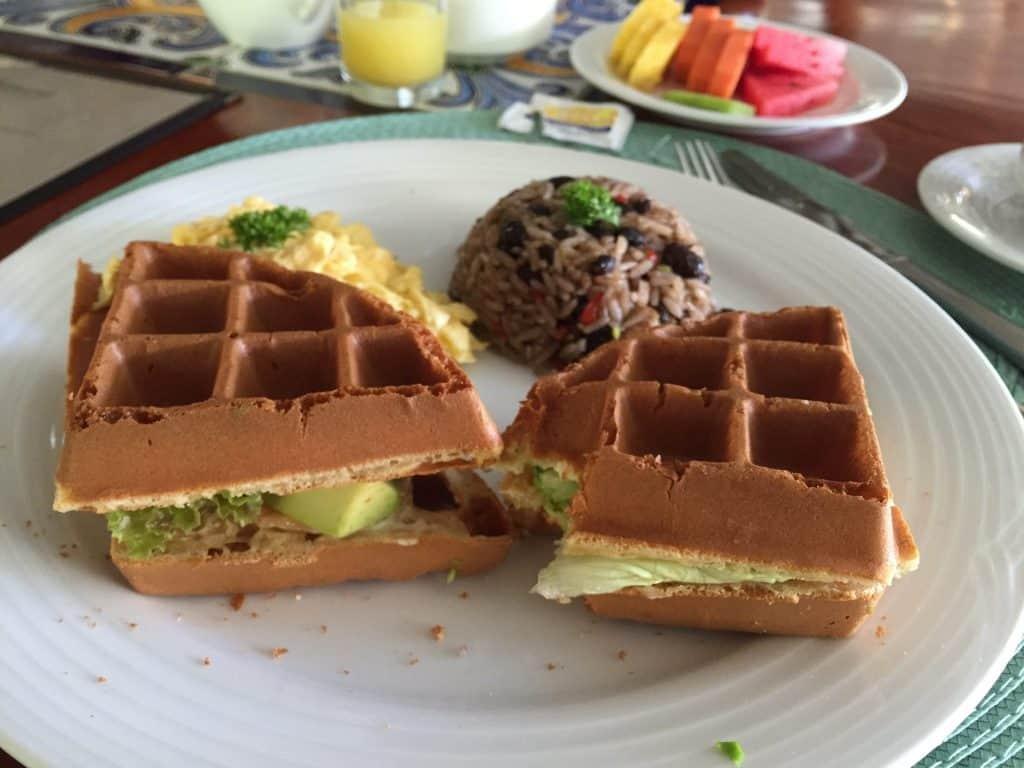 Jardin del Eden Boutique Hotel Review breakfast club waffle