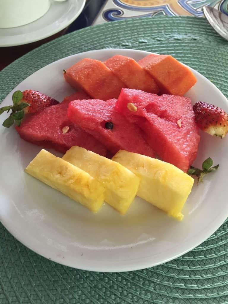 Jardin del Eden Boutique Hotel Review fruit plate breakfast