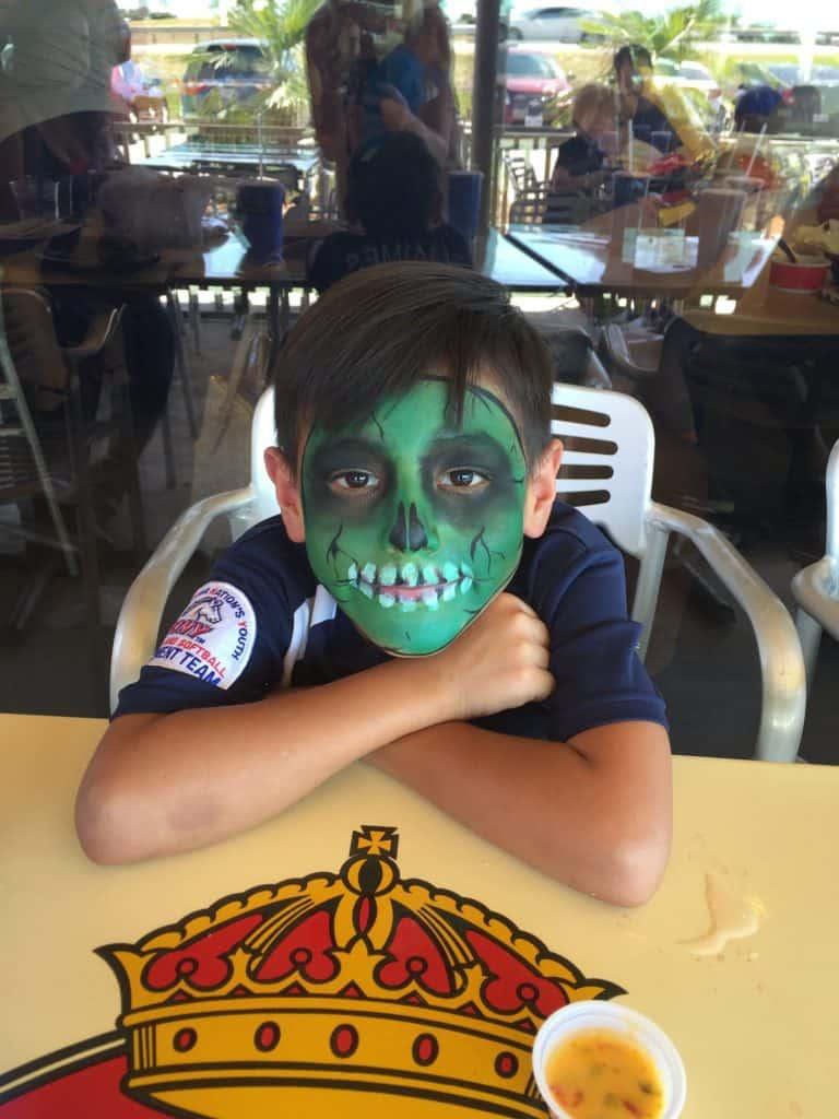 face painting kid taco cabana kyle texas grand opening fiesta