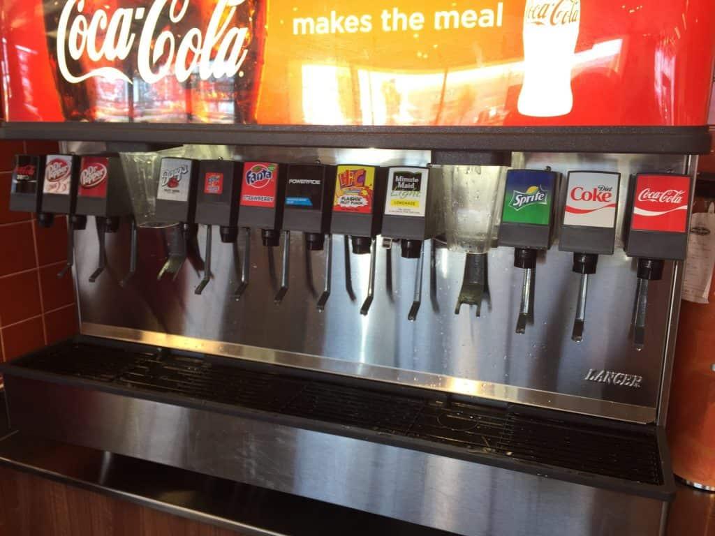 fanta apple soda machine options taco cabana